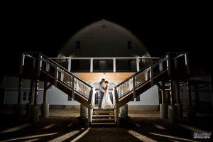 Furber Farm Barn Wedding at Night