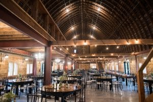 Inside of Rustic Barn Wedding Venue