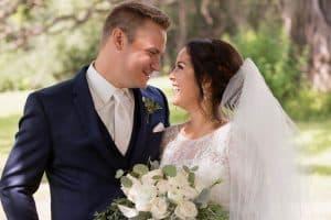 Minnesota Barn Venue Outdoor Ceremony Couples Photo