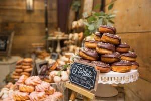 MN Barn Wedding Donut Bar